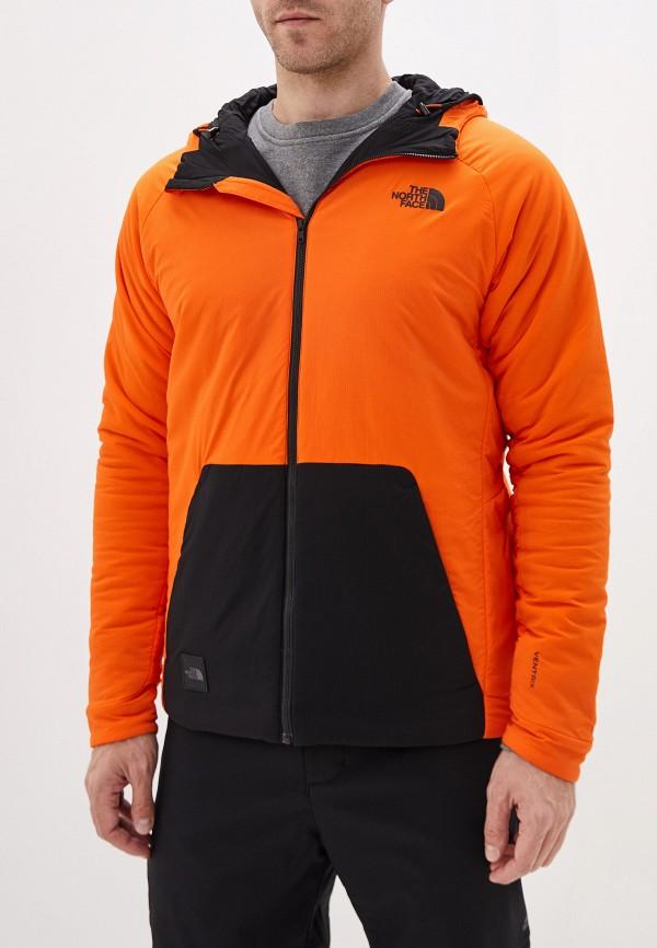 мужская куртка the north face, оранжевая