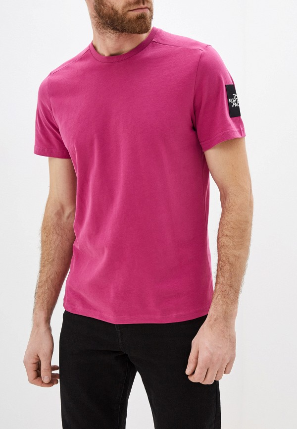 мужская спортивные футболка the north face, розовая