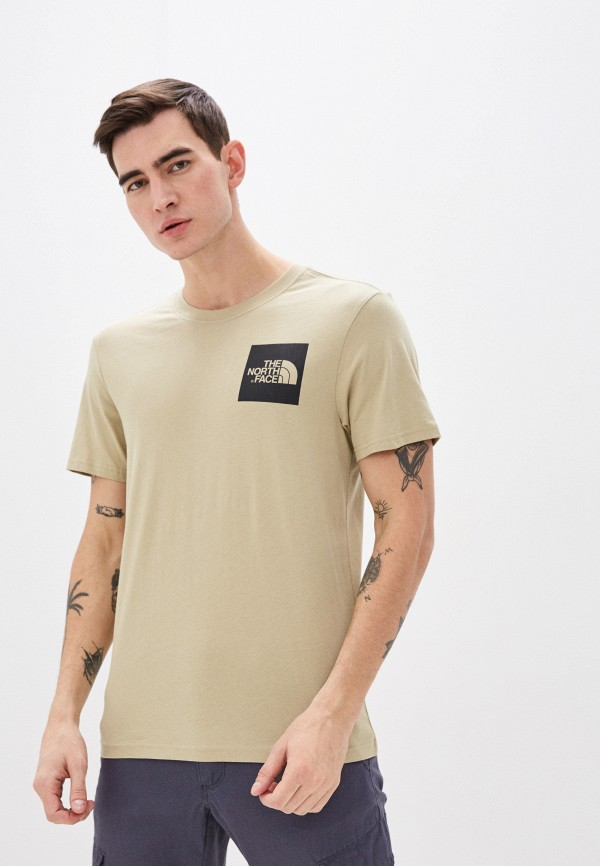 мужская спортивные футболка the north face, хаки