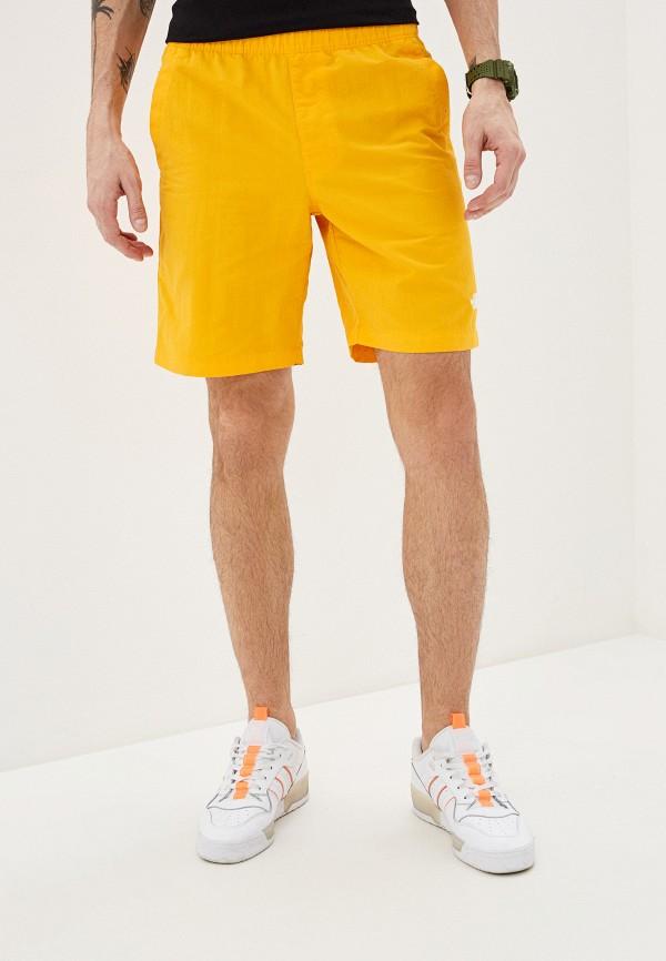 мужские спортивные шорты the north face, желтые