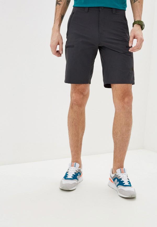 мужские спортивные шорты the north face, серые