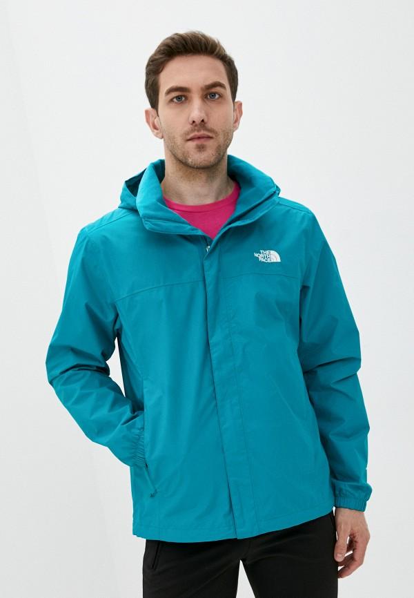 мужская куртка the north face, бирюзовая