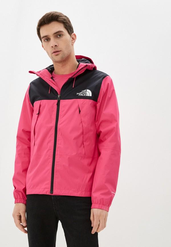 мужская куртка the north face, розовая