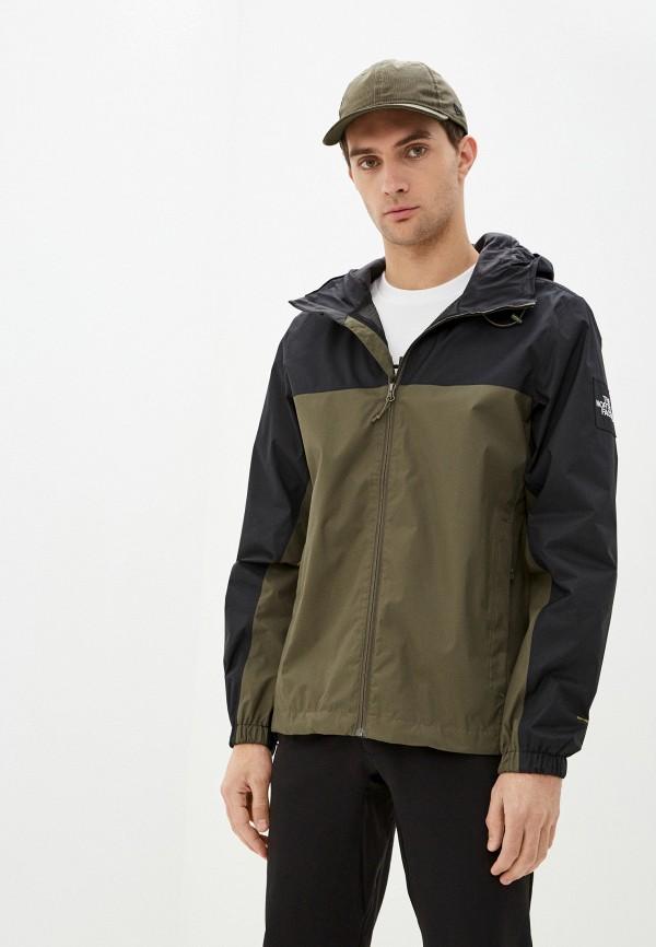 мужская куртка the north face, зеленая