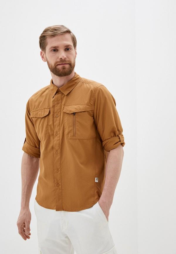 мужская рубашка с длинным рукавом the north face, коричневая