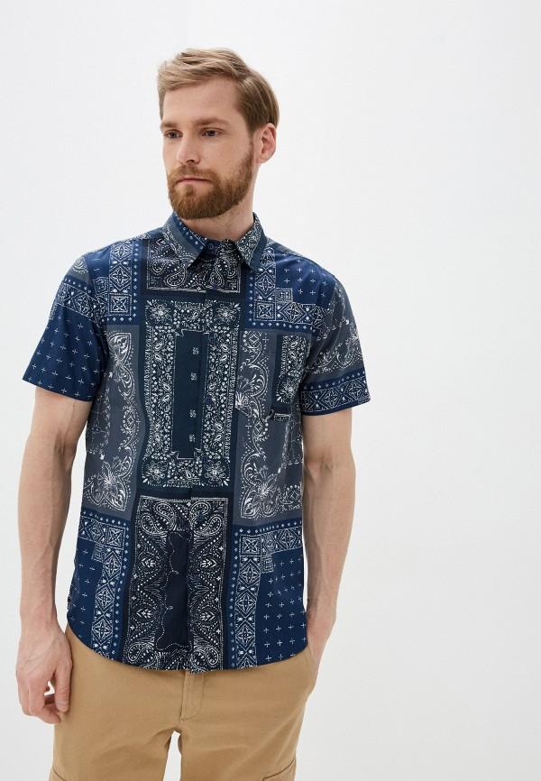мужская рубашка с коротким рукавом the north face, синяя