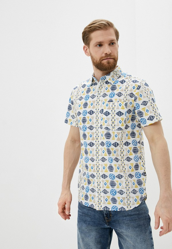 мужская рубашка с коротким рукавом the north face, разноцветная