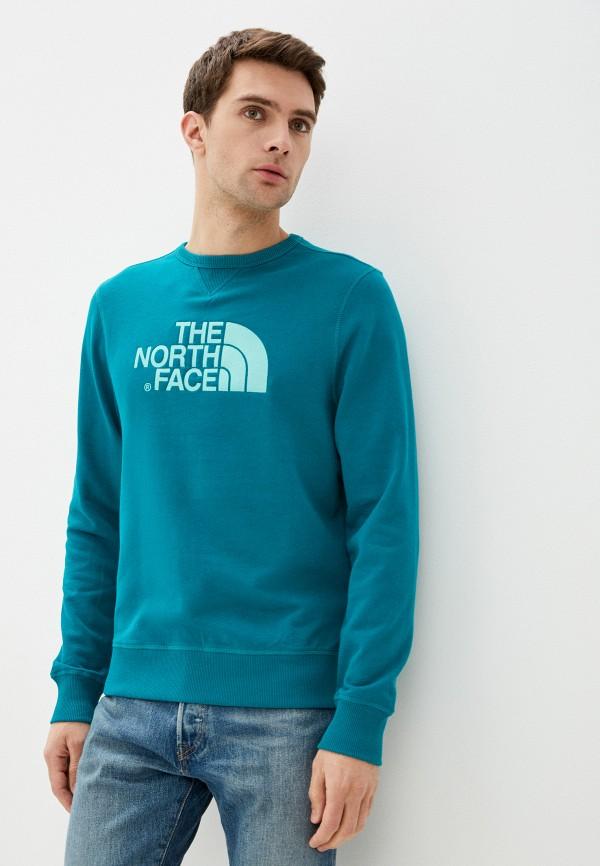 мужской свитшот the north face, зеленый