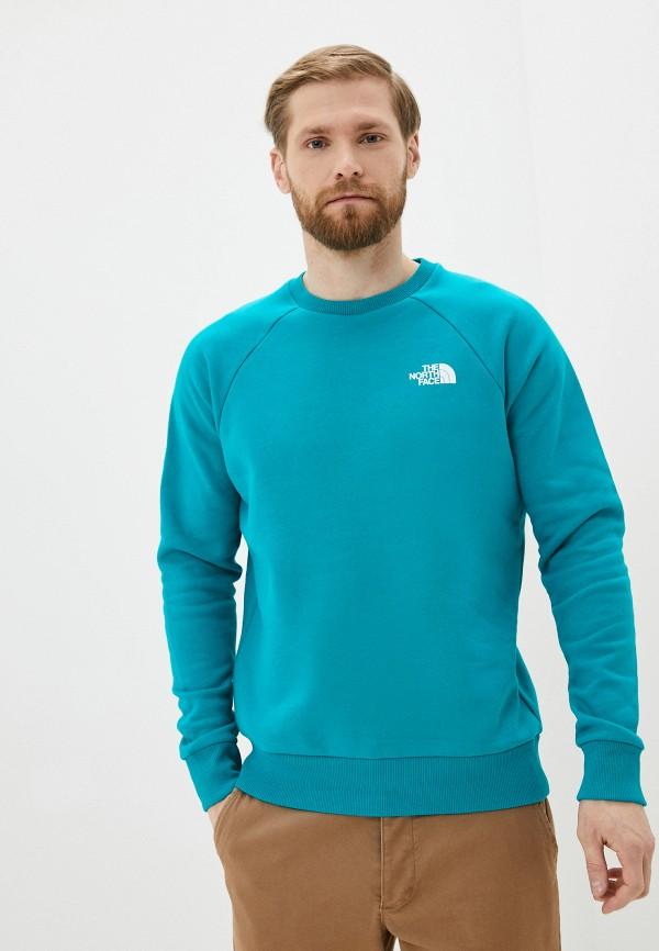 мужской спортивные свитшот the north face, синий