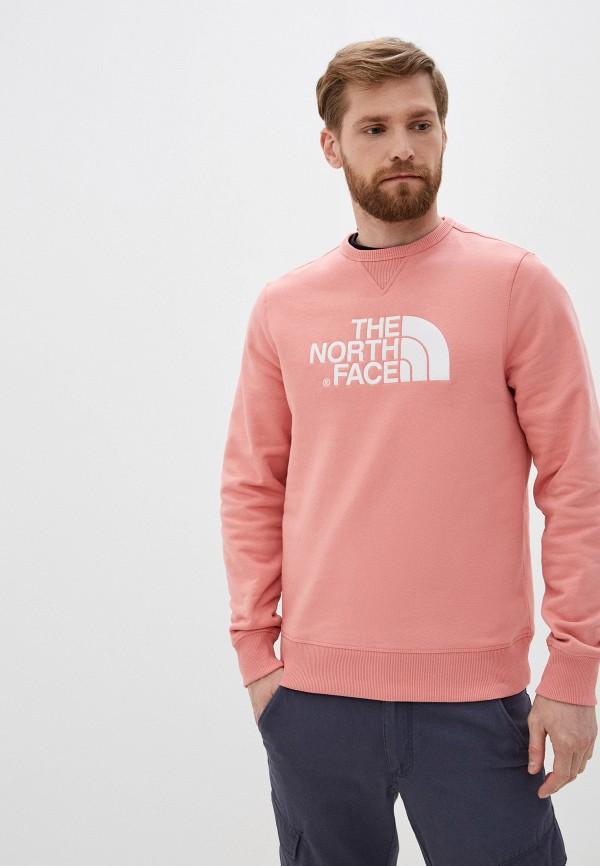 мужской спортивные свитшот the north face, розовый