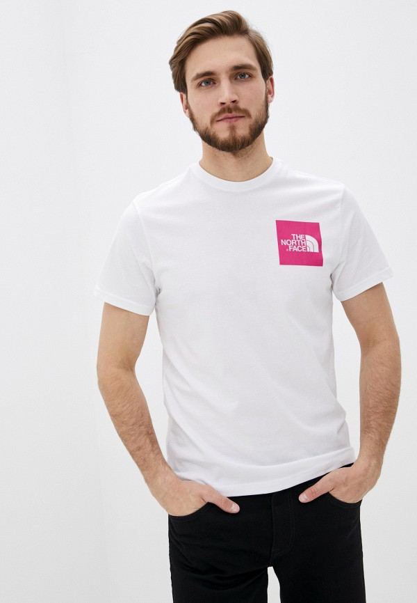 мужская футболка с коротким рукавом the north face, белая