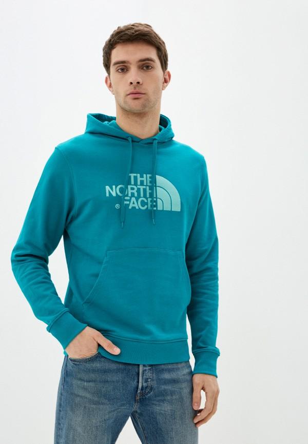 мужские худи the north face, голубые