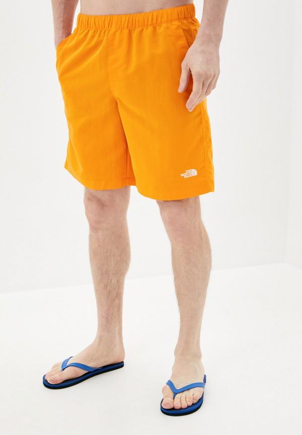 мужские спортивные шорты the north face, оранжевые