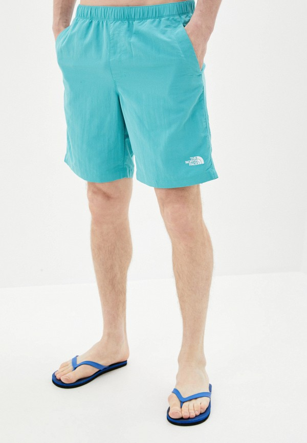 мужские спортивные шорты the north face, голубые