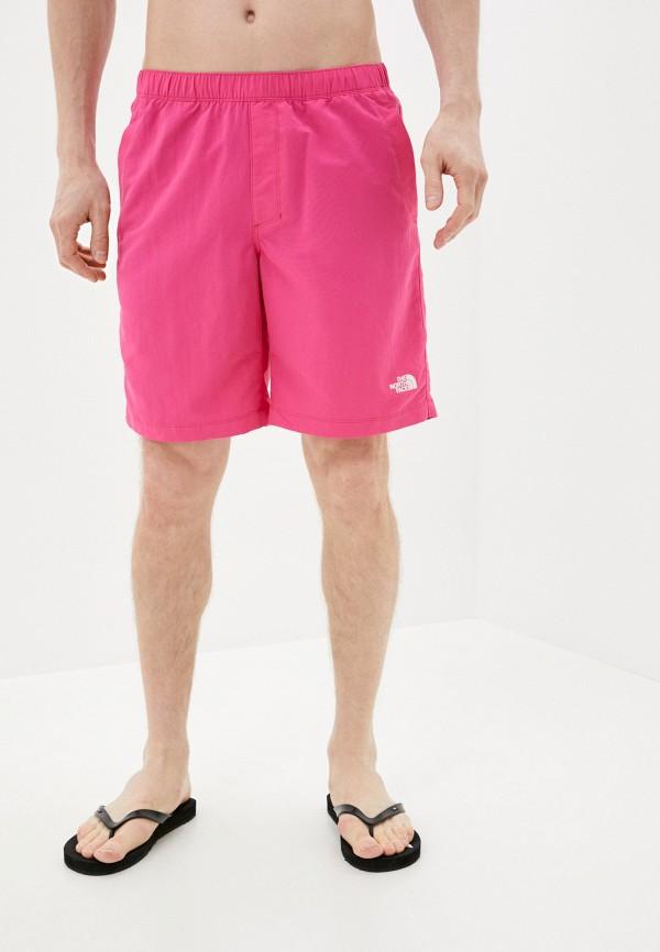 мужские спортивные шорты the north face, розовые
