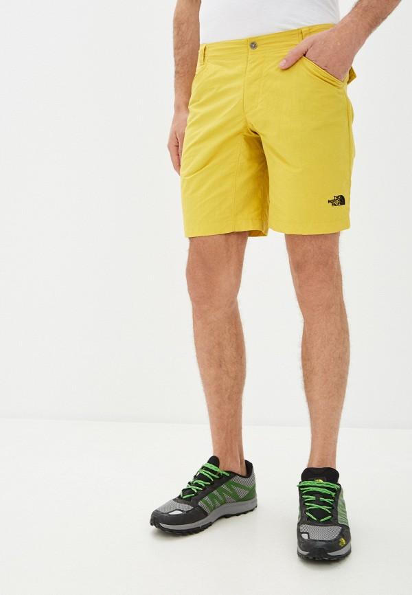 мужские повседневные шорты the north face, желтые