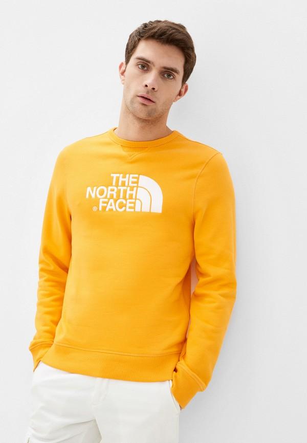 мужской свитшот the north face, желтый