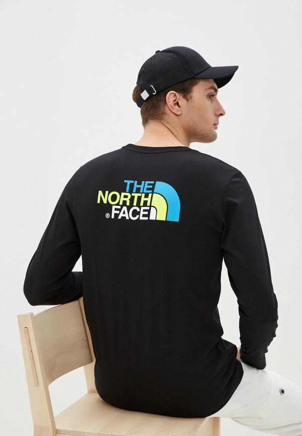 мужской лонгслив the north face, черный