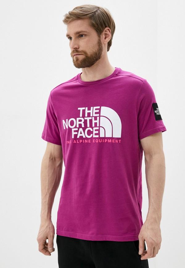мужская спортивные футболка the north face, фиолетовая