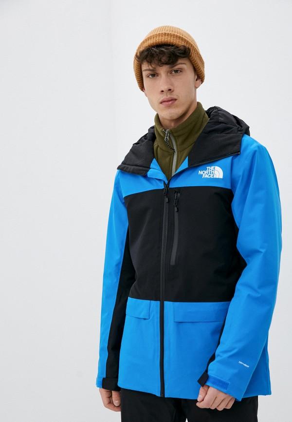 мужская куртка the north face, синяя