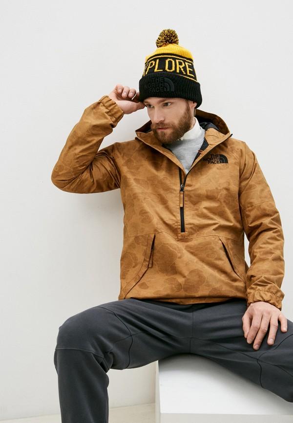мужская куртка the north face, коричневая