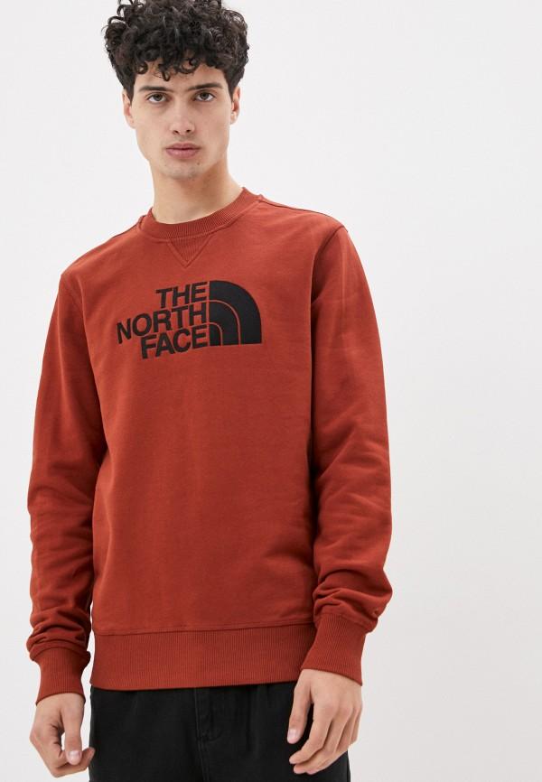 мужской свитшот the north face, коричневый