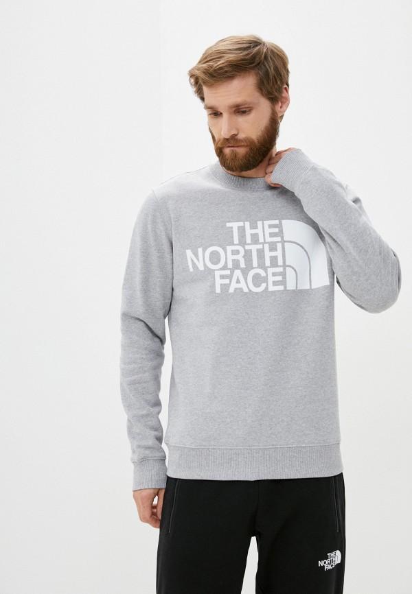 мужской свитшот the north face, серый