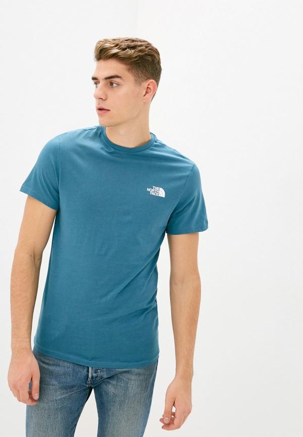 мужская спортивные футболка the north face, синяя