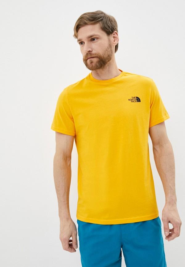 мужская спортивные футболка the north face, желтая