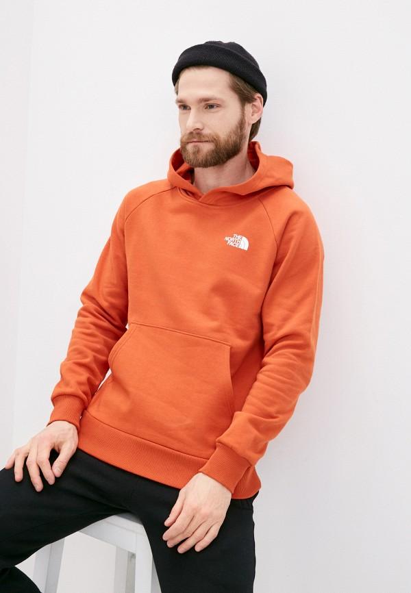 мужские худи the north face, оранжевые
