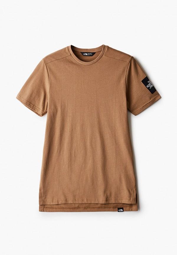 мужская спортивные футболка the north face, бежевая