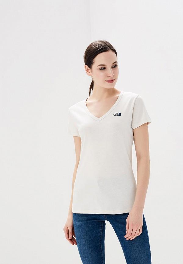 женская футболка the north face, белая