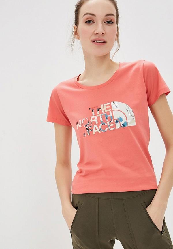 женская спортивные футболка the north face
