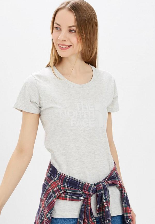женская спортивные футболка the north face, бежевая