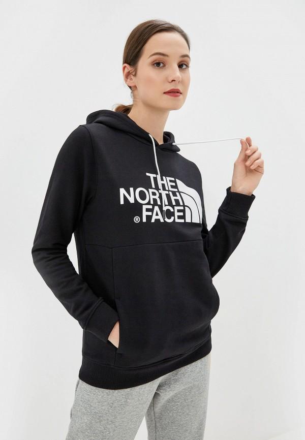 женские худи the north face, черные