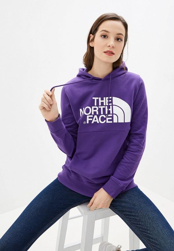 женские худи the north face, фиолетовые