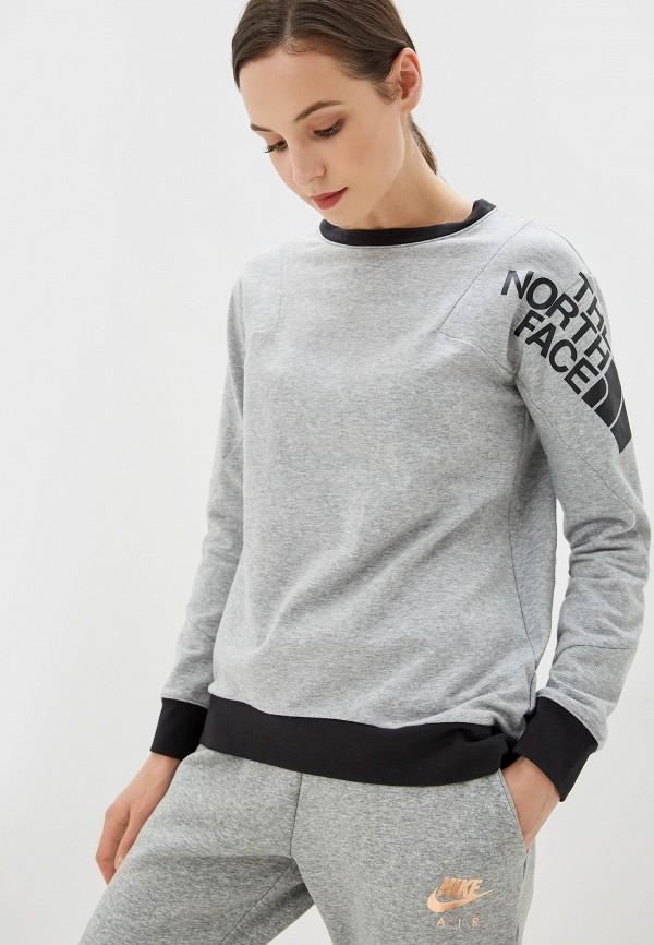 женский свитшот the north face, серый