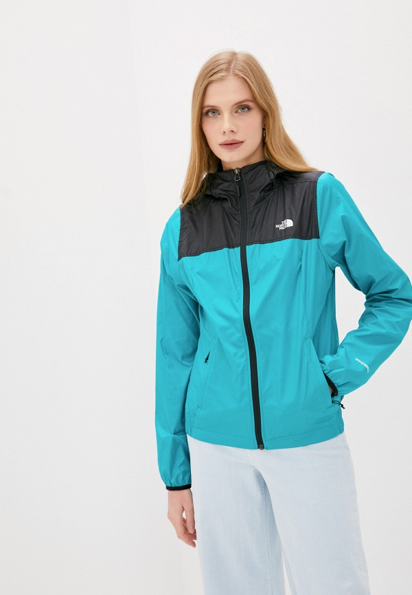 женская куртка the north face, зеленая