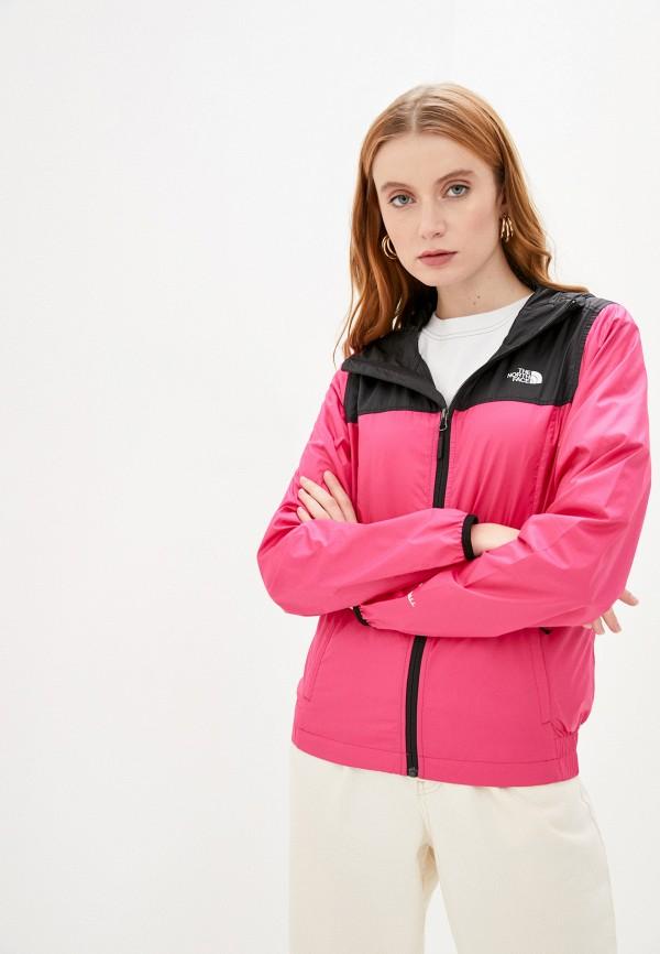 женская куртка the north face, розовая