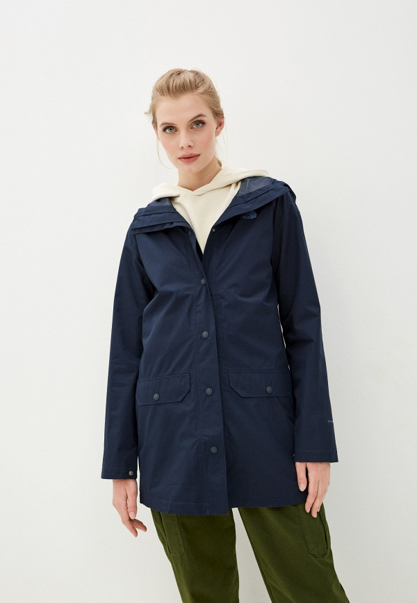 женская спортивные куртка the north face, синяя