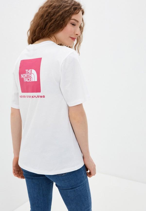 женская спортивные футболка the north face, белая
