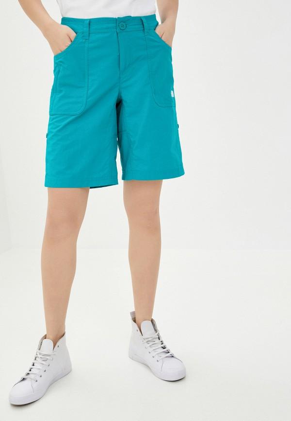 женские повседневные шорты the north face, зеленые