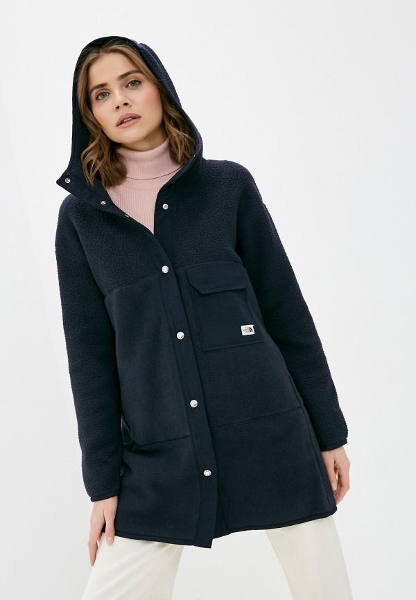 женская куртка the north face, синяя