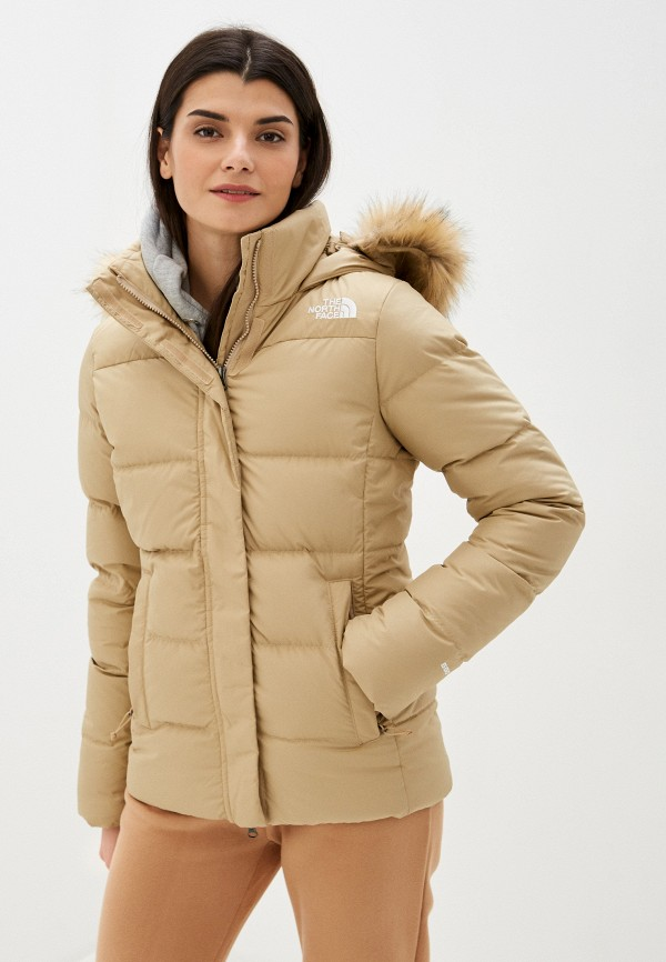 женская куртка the north face, бежевая