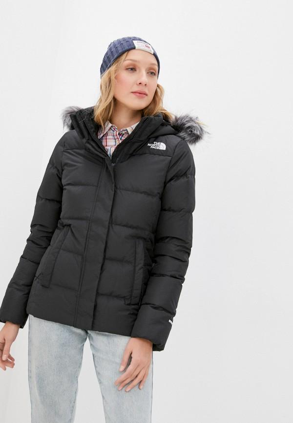 женская куртка the north face, черная