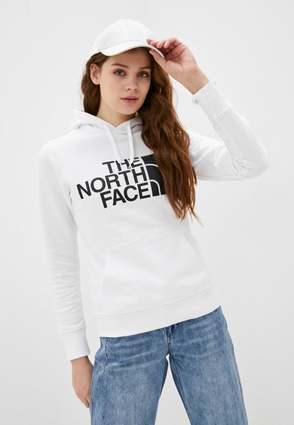 женские худи the north face, белые
