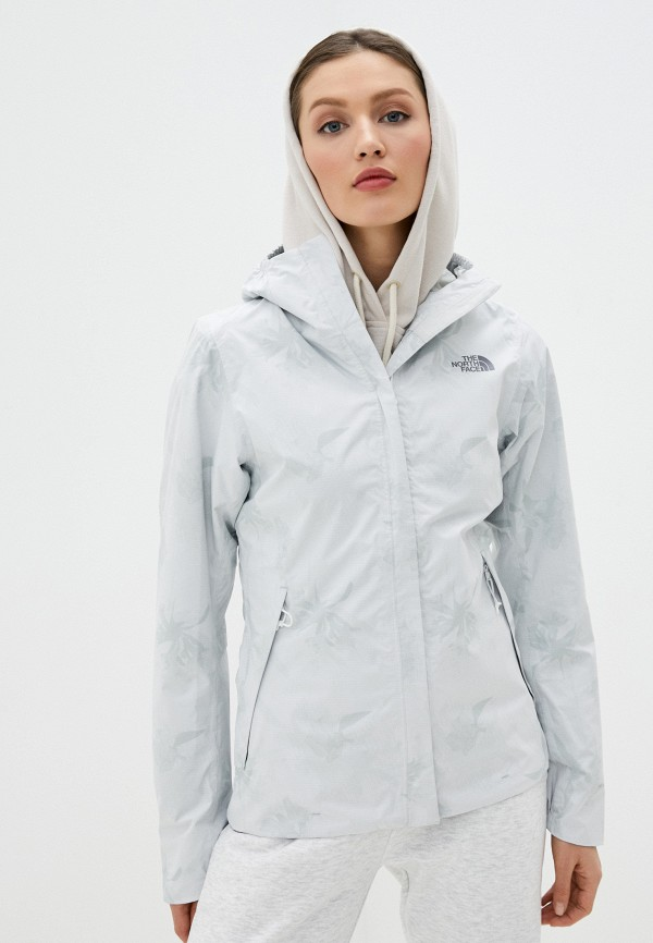 женская куртка the north face, белая