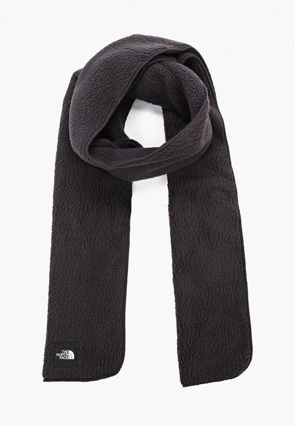 женский шарф the north face, черный