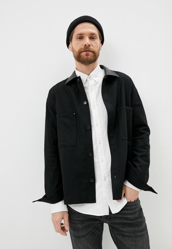 мужская рубашка с длинным рукавом the kooples, черная