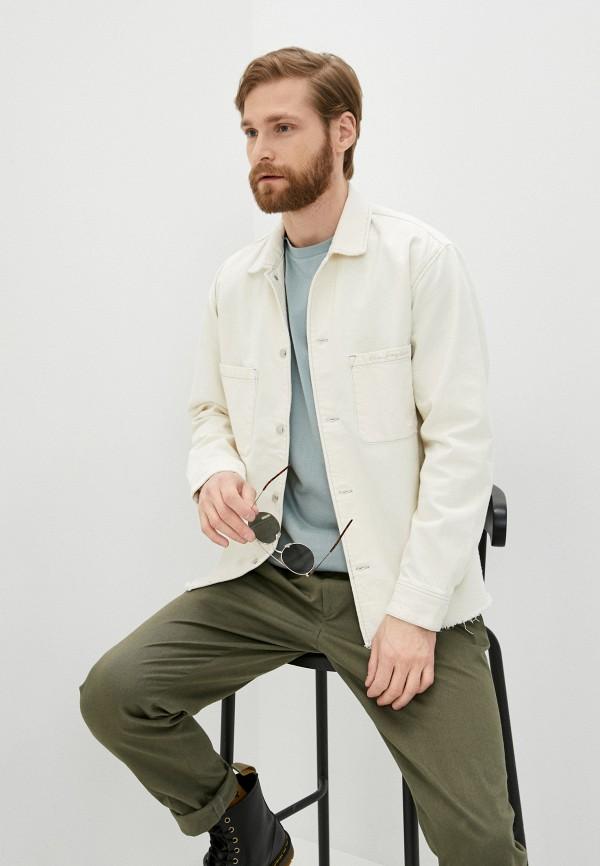 мужская джинсовые куртка the kooples, белая